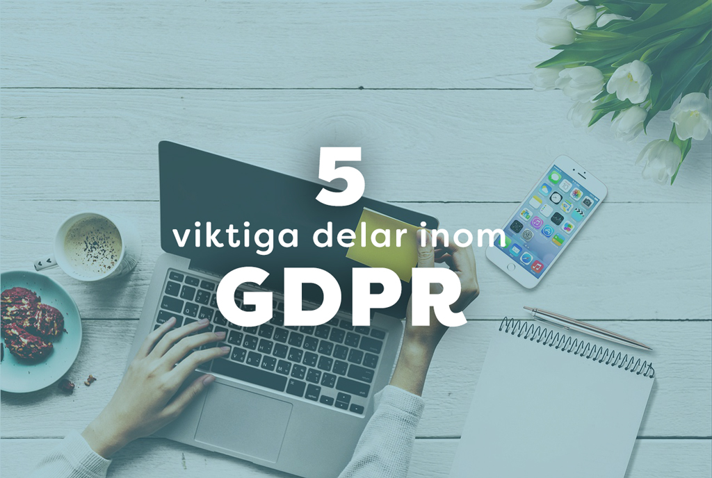 5 viktiga delar inom GDRP